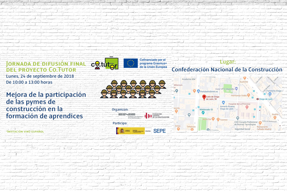 The Co.Tutor project comes to an end and presents its results to the SMEs in the National Confederation of Construction