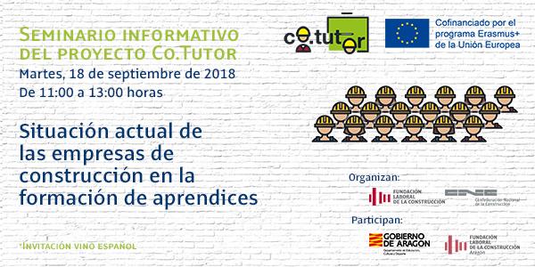 Abierta la inscripción para el seminario sobre la 'Situación actual en las empresas de construcción en la formación de aprendices'